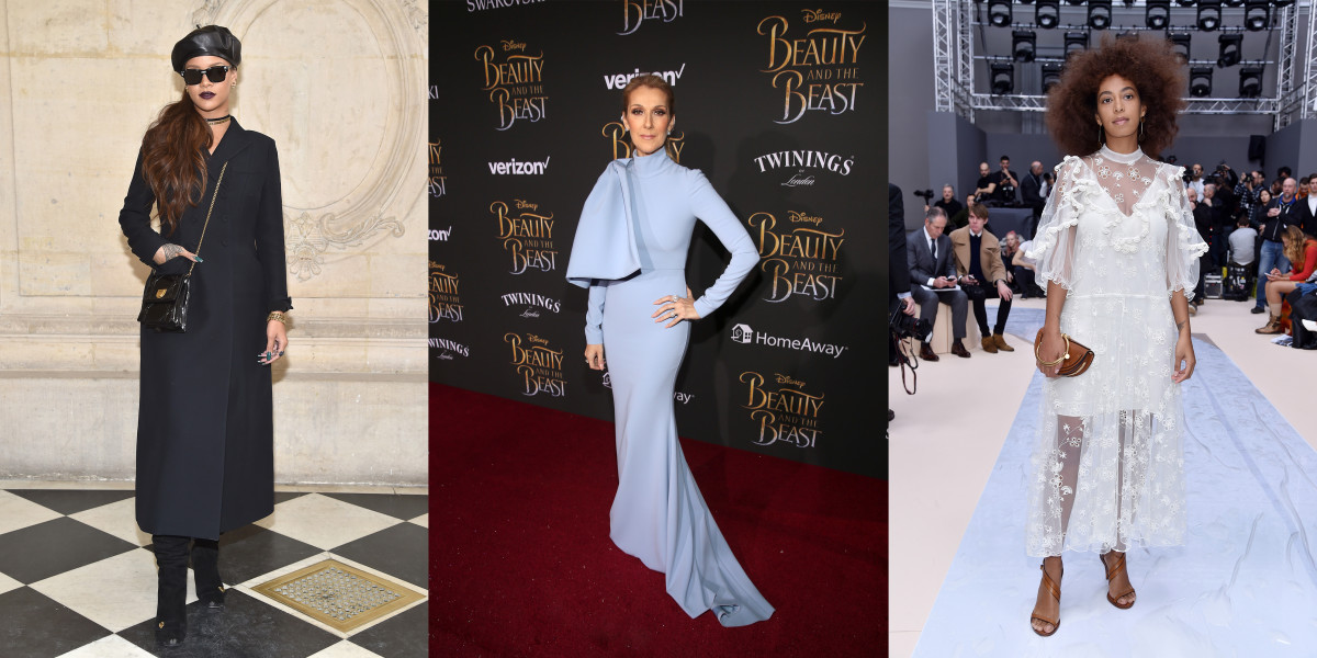 Rihanna, Céline Dion and Solange. Photos: Pascal Le Segretain and Jesse Grant for Getty Images