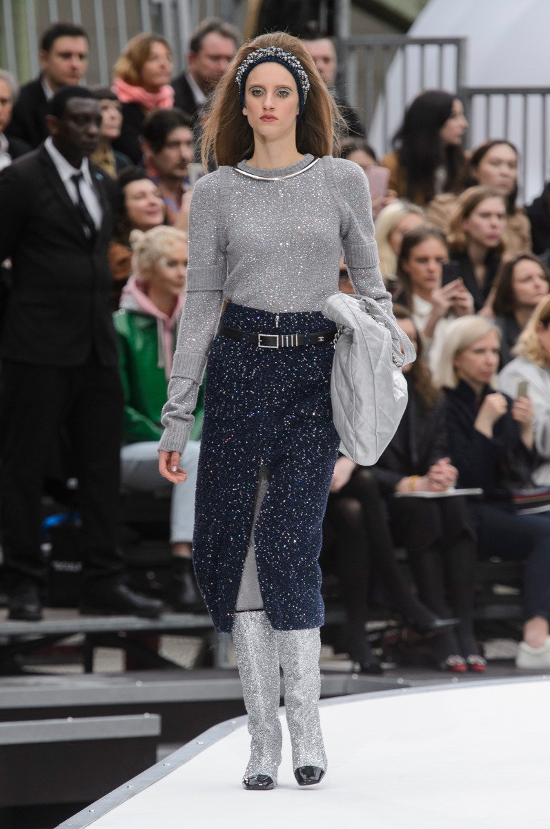 A look from the Chanel Fall 2017 Collection. Photo: Imaxtree