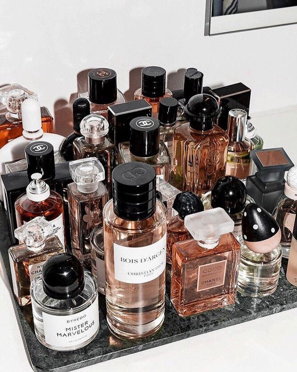 Fashion people fragrances, a still life. Photo: @marianna_hewitt/Instagram