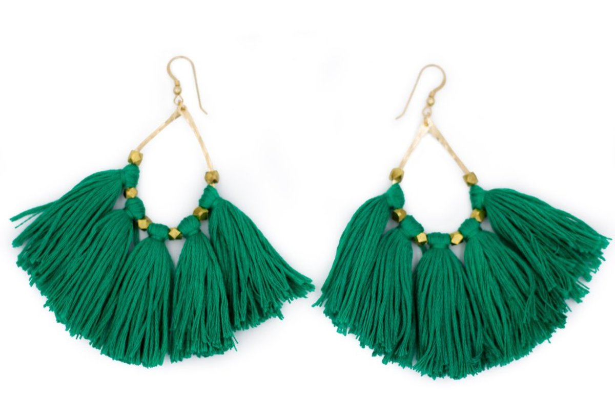 Tassel earrings, $60, available at Often Wander