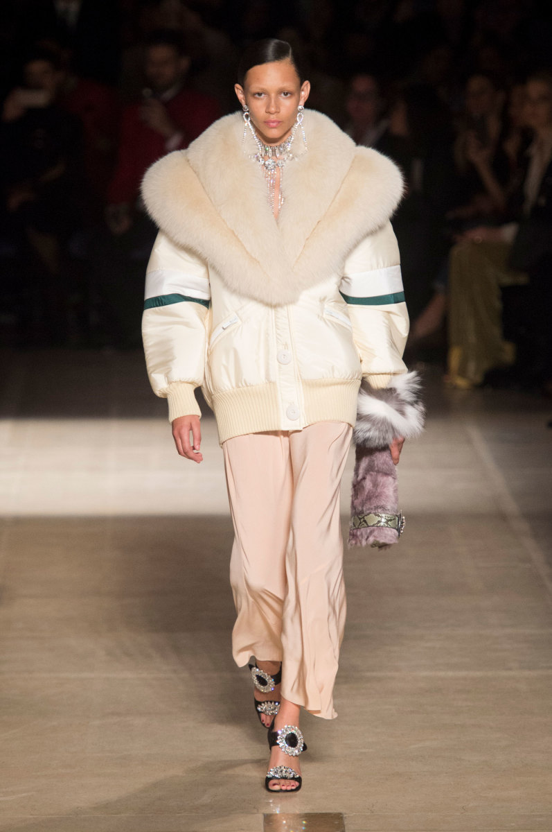 A look from the Miu Miu Fall 2017 Collection. Photo: Imaxtree