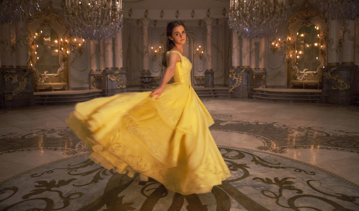The yellow dress. Photo: Laurie Sparham/Disney