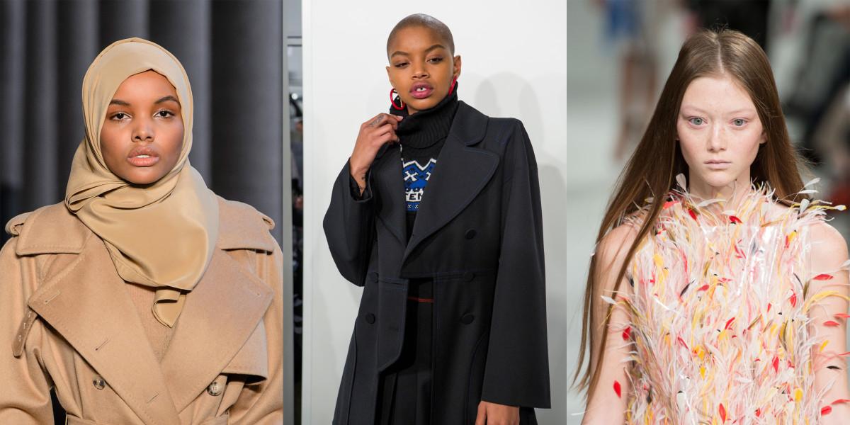 Halima Aden, Slick Woods and Sara Grace Wallerstedt. Photos: Imaxtree