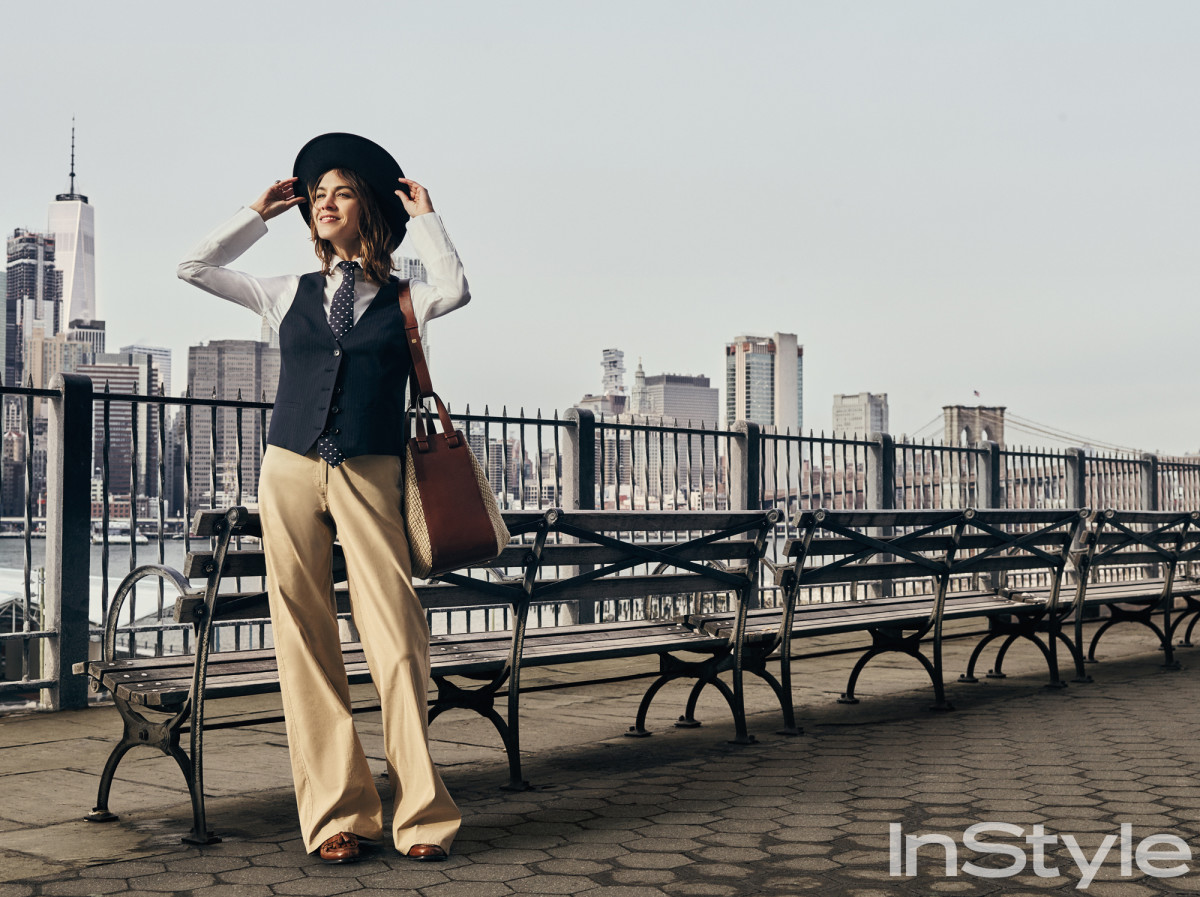 Alexa Chung as Annie Hall for InStyle.Photo: Matthew Sprout for InStyle