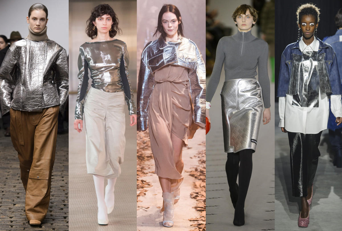 (L-R): Nehera, Lemaire, Off-White, Balenciaga and Lutz Huelle. Photos: Imaxtree