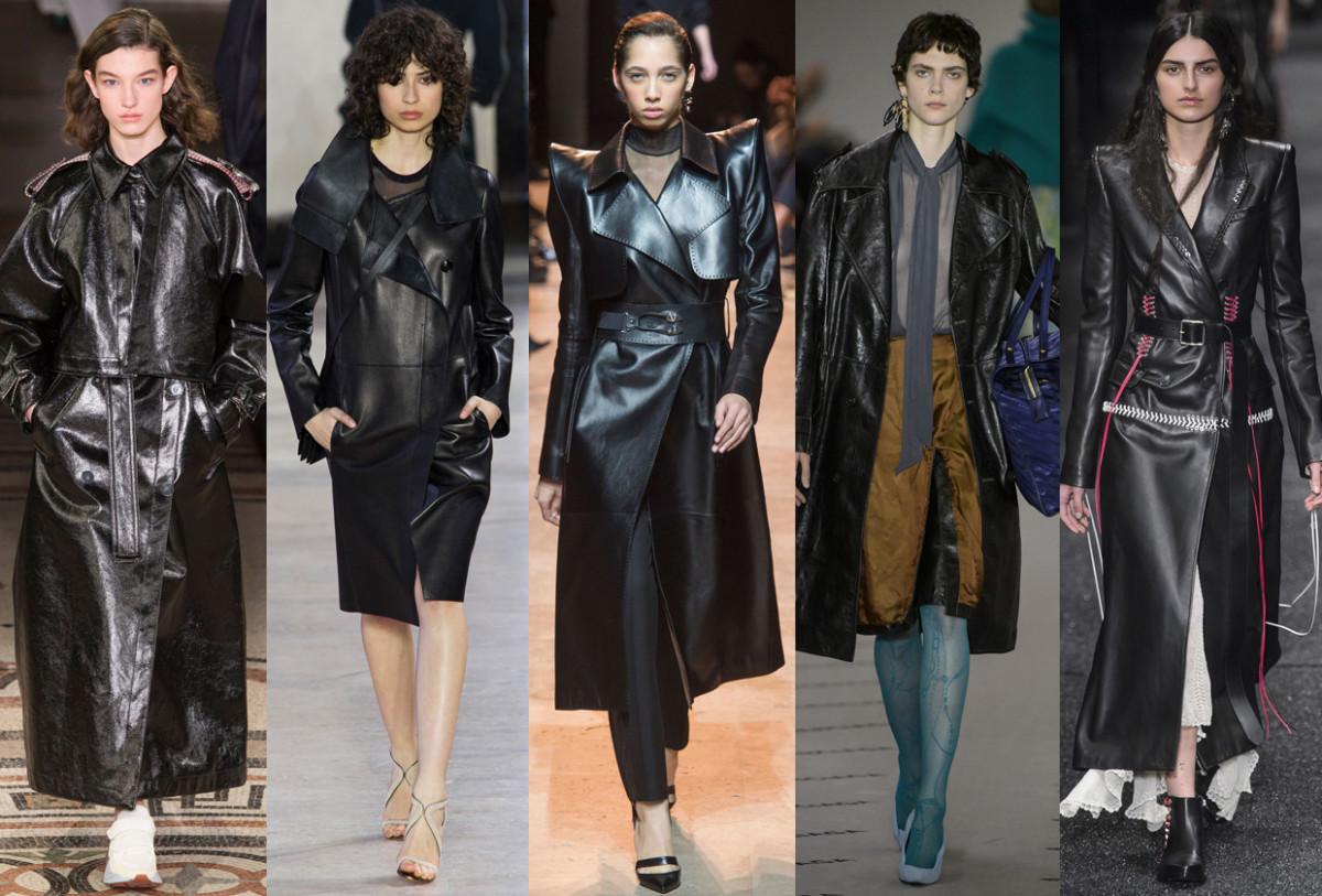 (L-R): Stella McCartney, Akris, Mugler, Balenciaga and Alexander McQueen. Photos: Imaxtree