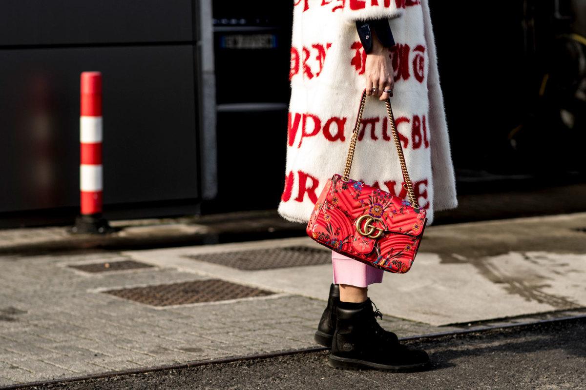 Gucci spotting at Milan Fashion Week. Photo: Imaxtree