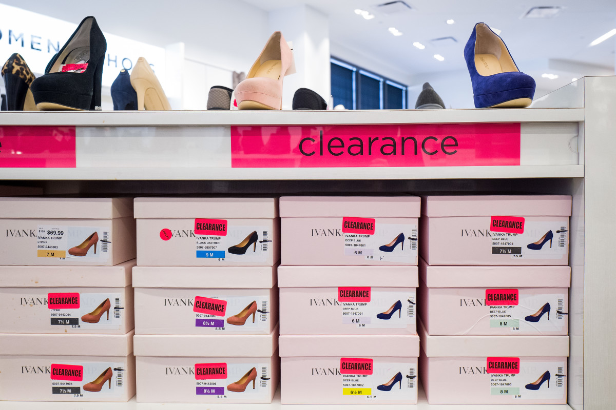 Ivanka Trump footwear on clearance at Century 21. Photo: Drew Angerer/Getty Images
