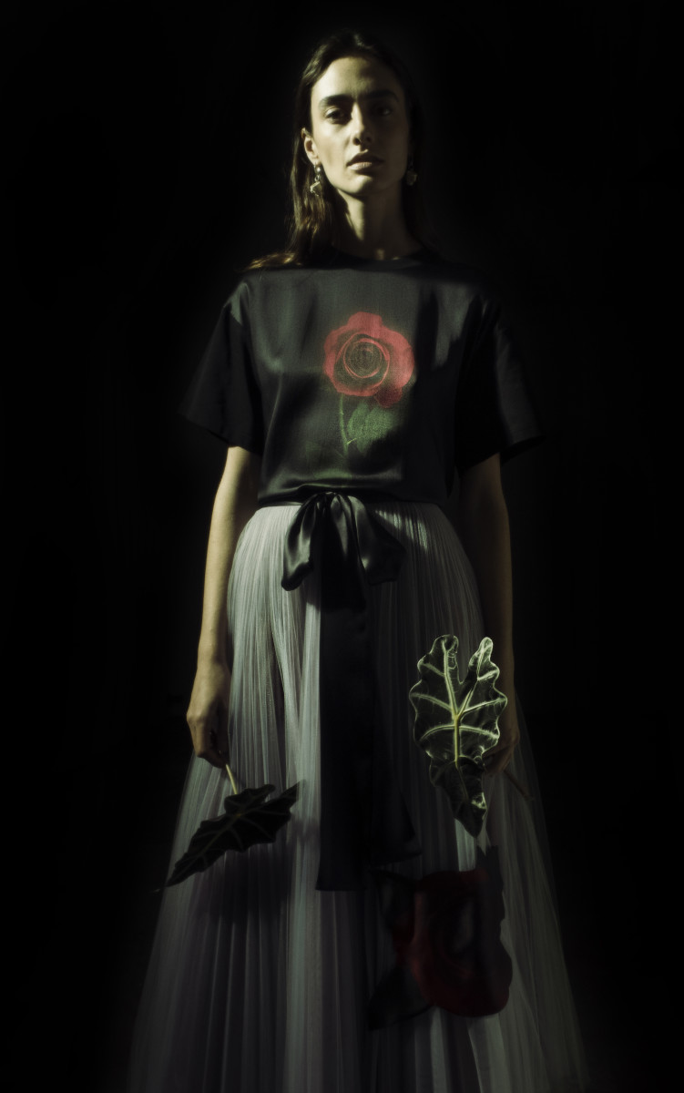 A look from the Christopher Kane x Beauty and the Beast collection. Photo: Jack Davison