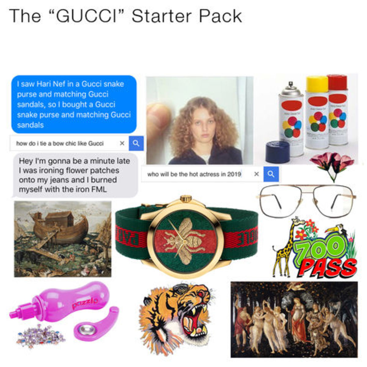 "#TFWGucci's ""Gucci"" starter pack meme by @youvegotnomale. Photo: Gucci"
