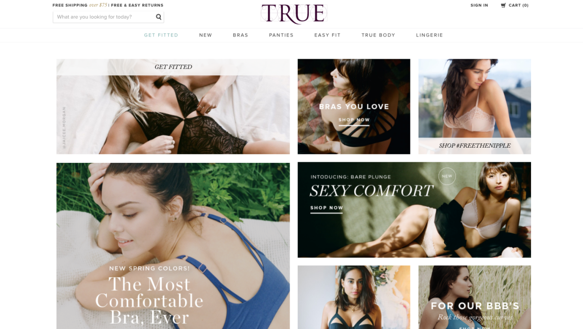 True & Co.'s website.