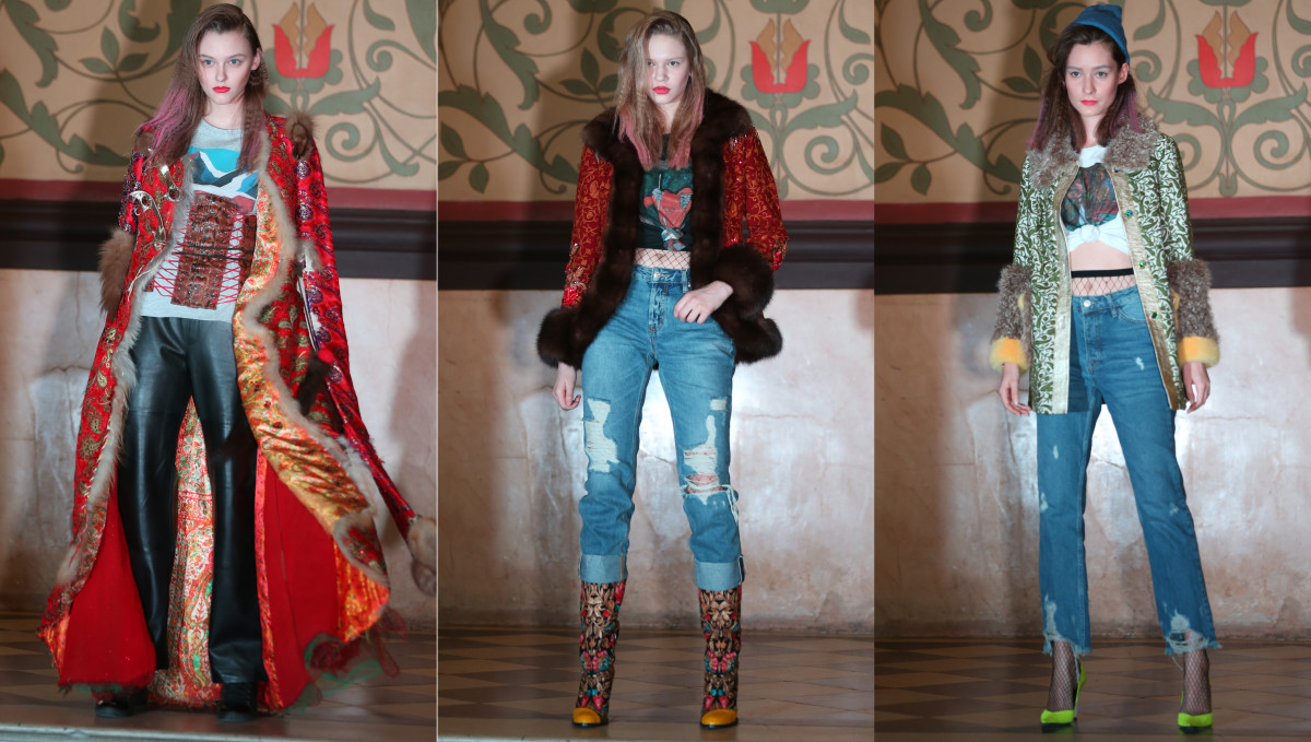 Looks from the Tsiganova Fall 2017 collection. Photos: Mercedes-Benz Fashion Week Russia
