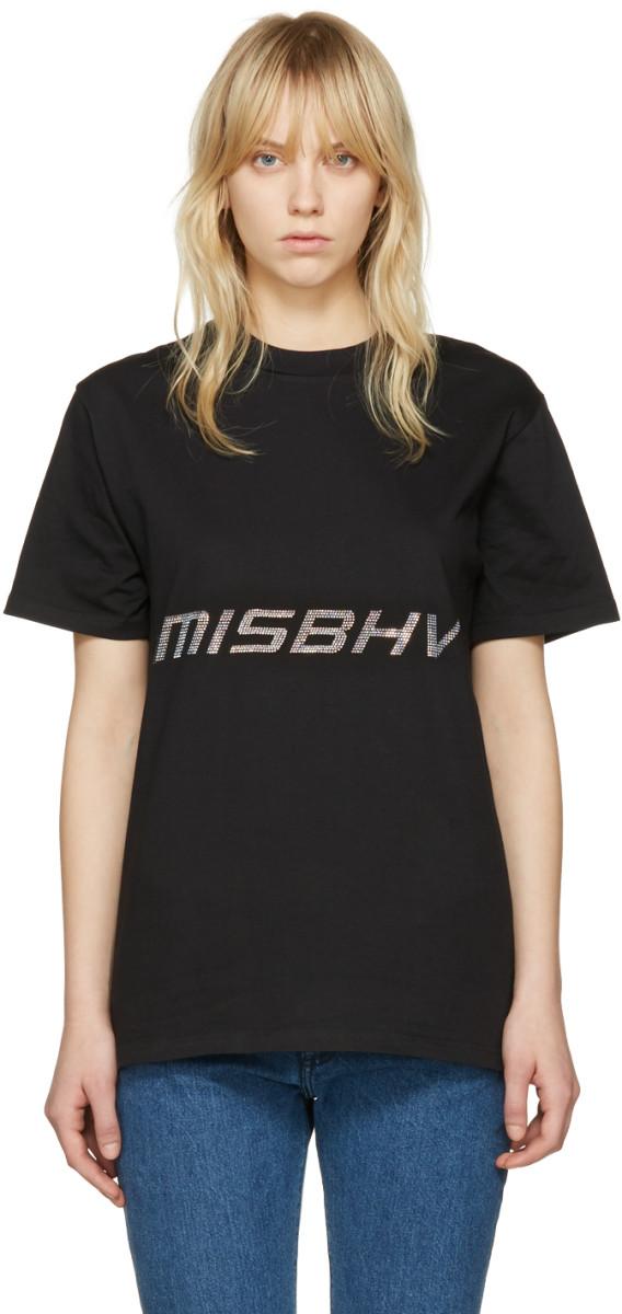 Misbhv Black Techno T-shirt, $135, available at Ssense.