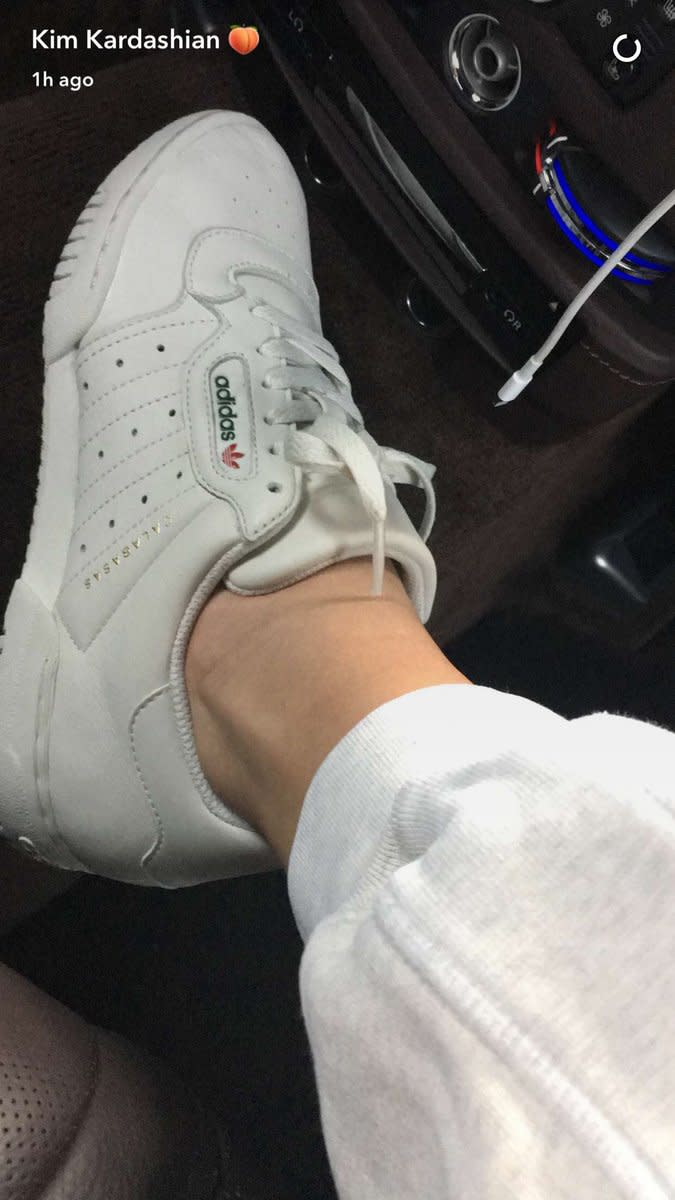 f6aa71b92ff84 The Adidas Yeezy Calabasas Powerhouse. Photo   KimKardashian Snapchat
