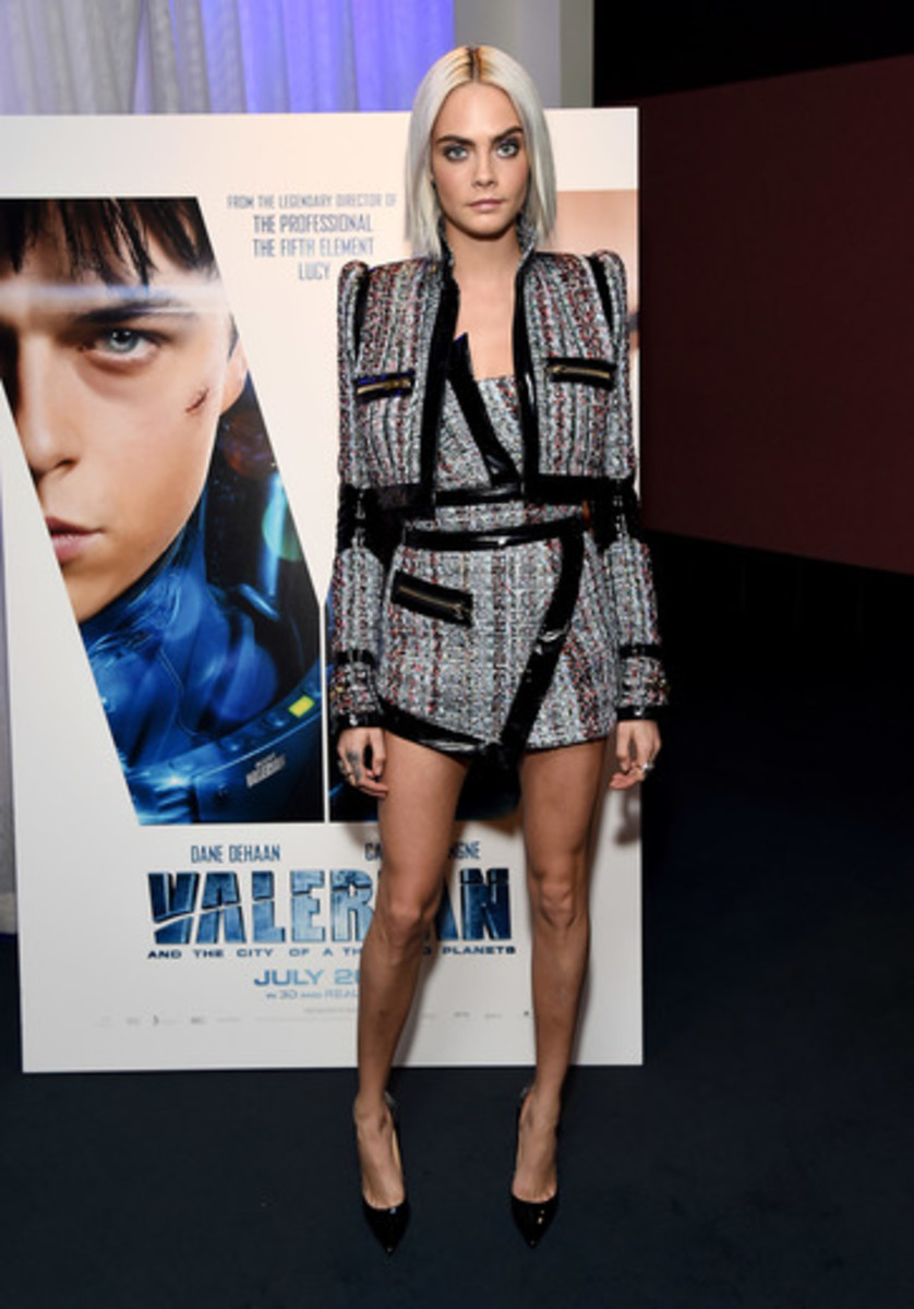 "Cara Delevingne at a trailer viewing of her upcoming film ""Valerian and The City of a Thousand Planets. Photo: Courtesy of STX"