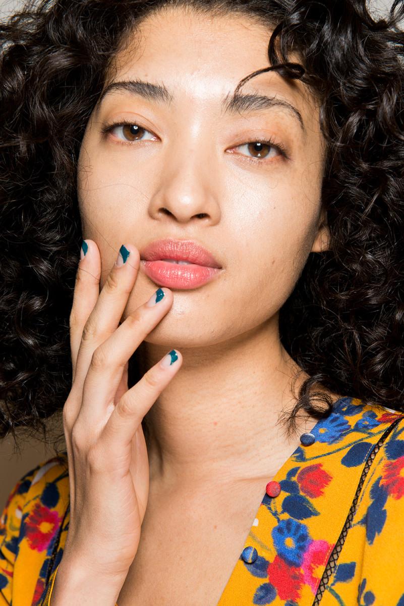 The nail look from Tanya Taylor Fall 2017. Photo: Imaxtree