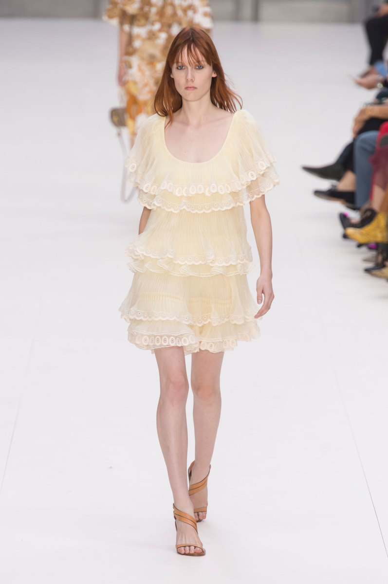 The dress on Chloé's Spring 2017 runway during Paris Fashion Week. Photo: Imaxtree