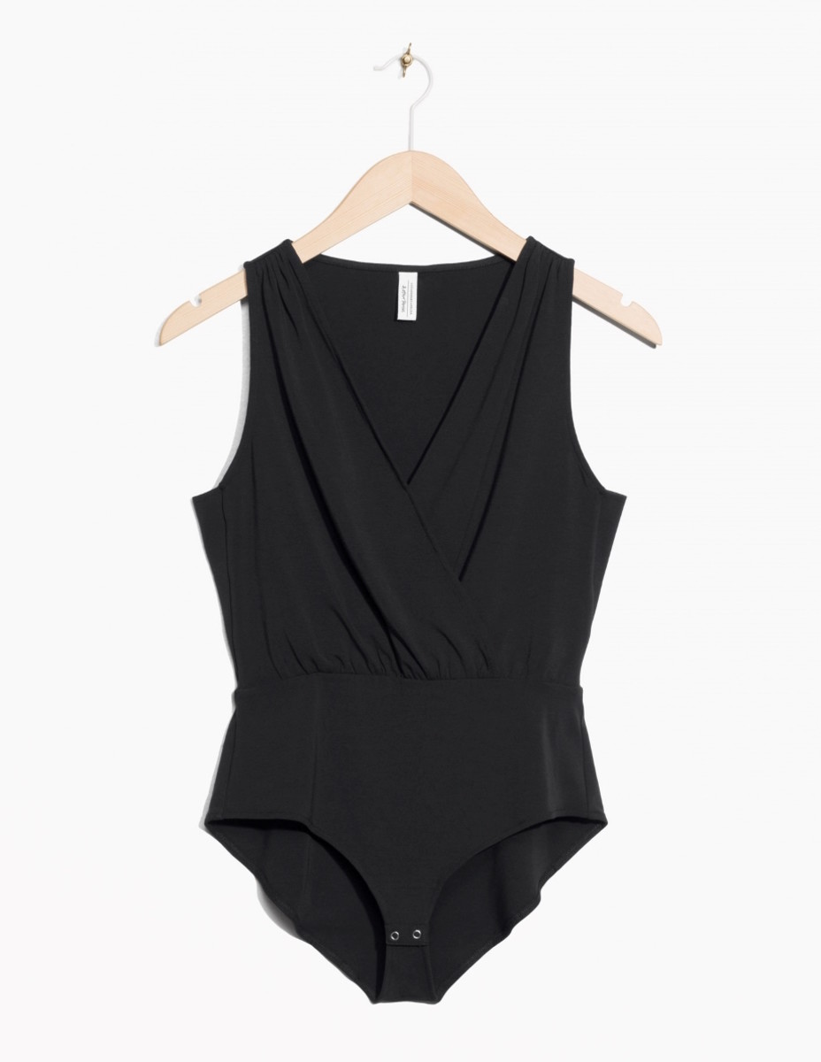Plunging Wrap Bodysuit, $55, available at & Other Stories