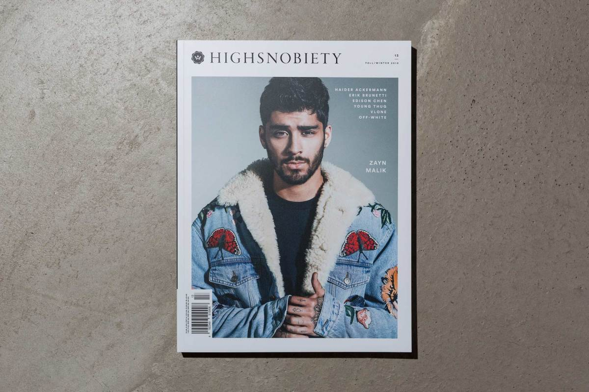 Zayn Malik on the cover of Highsnobiety Issue 13 for Fall/Winter 2016. Photo: Highsnobiety.