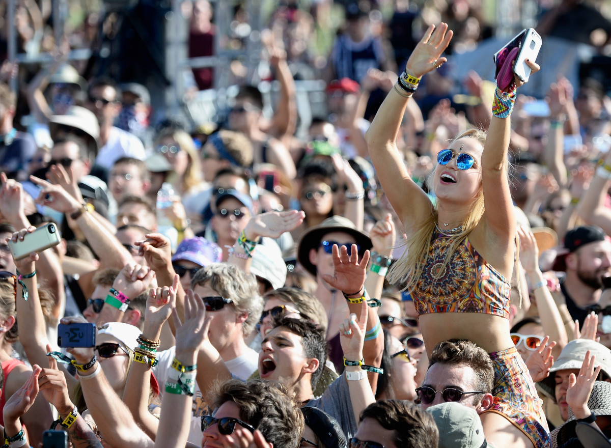 Music fans at Coachella. Photo:Frazer Harrison/Getty Images