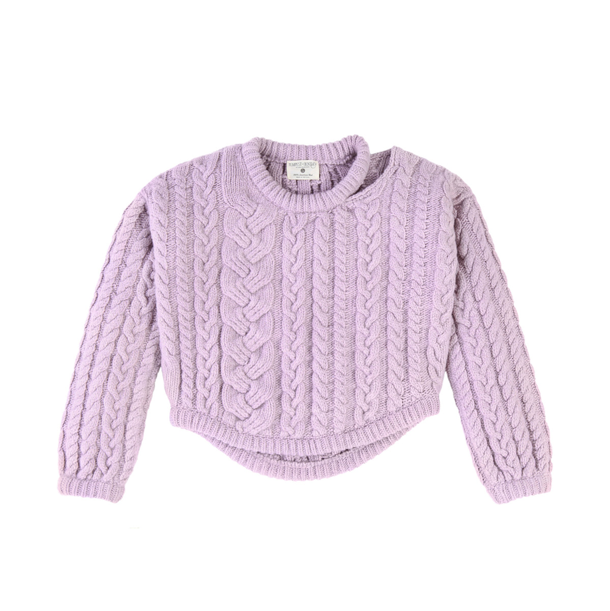 Tempest + Bentley cable pullover, $825, available at Maison de Mode
