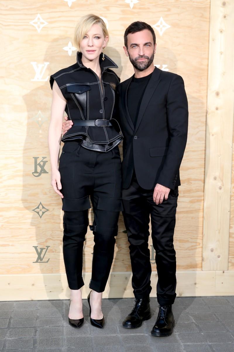 Cate Blanchett and Nicolas Ghesquière. Photo: Louis Vuitton