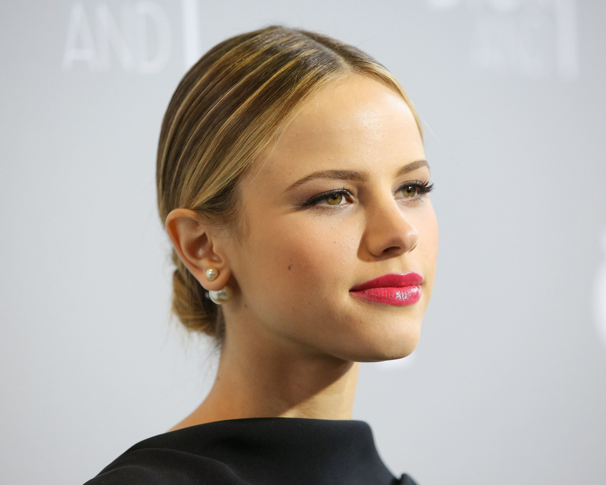 Actress Halston Sage in Dior's tribal earring. Photo: Imeh Akpanudosen/Getty Images