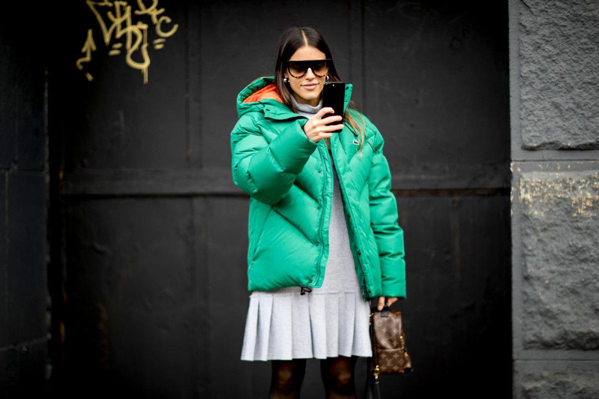 A puffer jacket at New York Fashion Week. Photo: Imaxtree