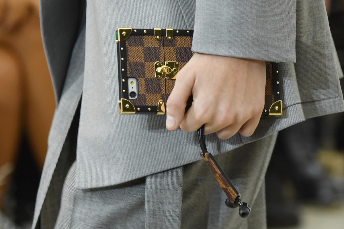 The Louis Vuitton trunk phone case. Photo: Pascal Le Segretain/Getty Images