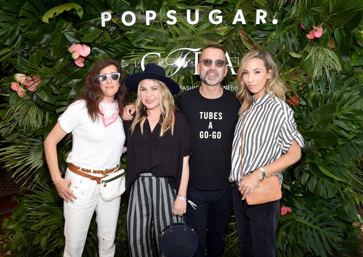 Clare Vivier, Emily Current, Steven Kolb and Meritt Elliott. Photo: Getty Images for PopSugar