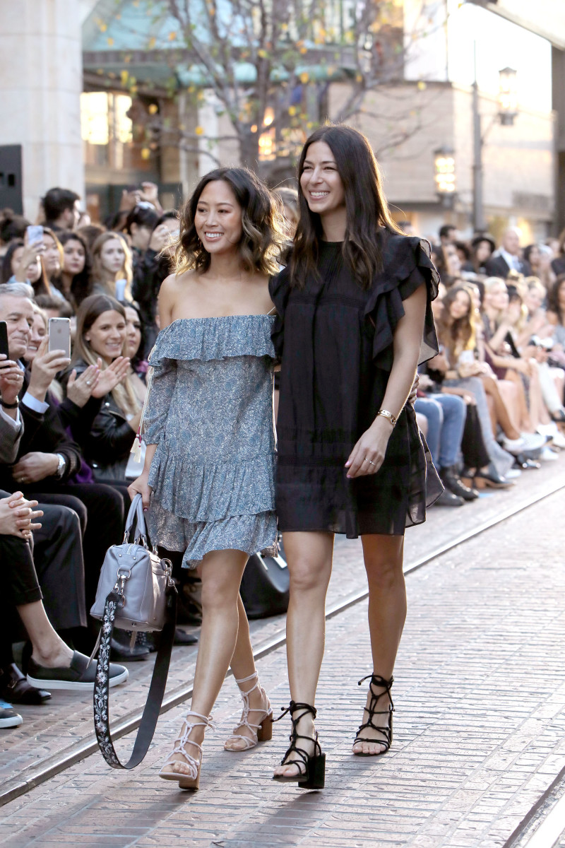 Aimee Song closing the Rebecca Minkoff fashion show in Los Angeles. Photo: Rachel Murray/Getty Images