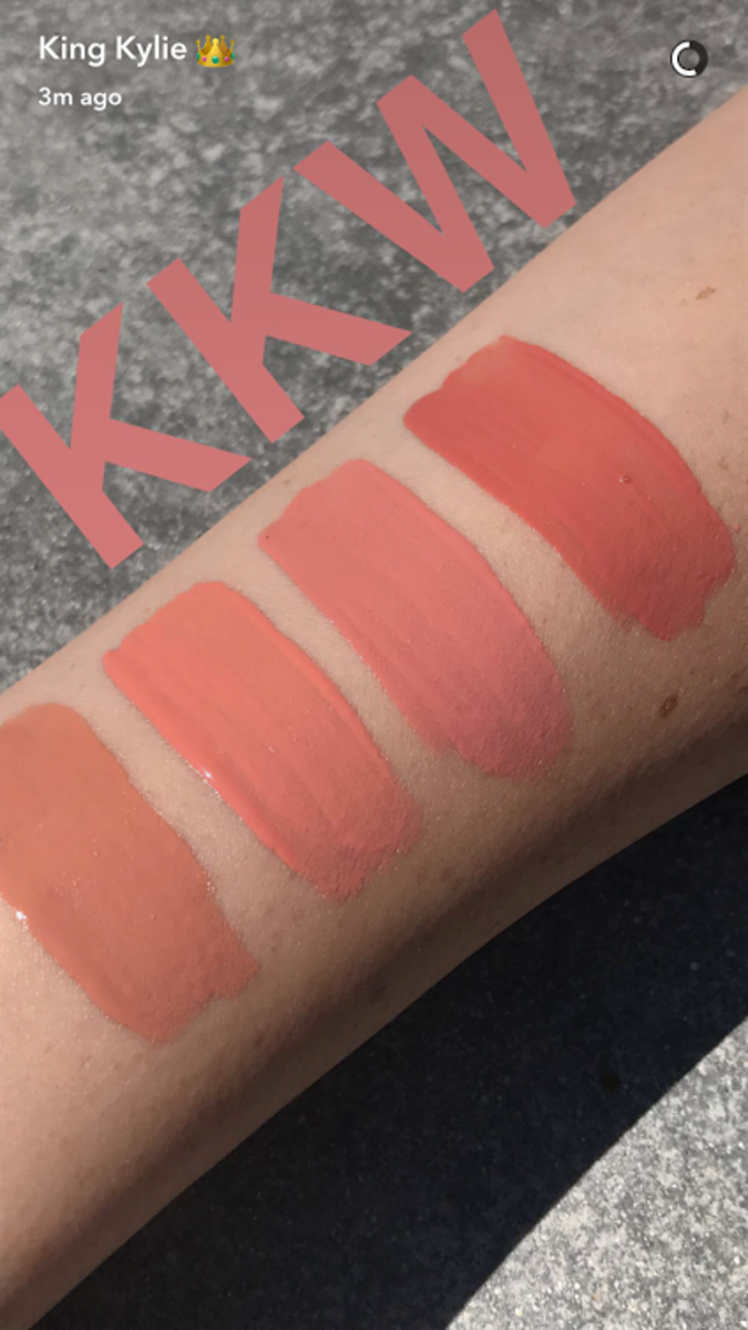 The Kylie Cosmetics KKW shades.