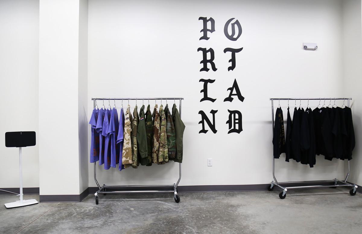 Kanye West's Pablo pop-up shop. Photo: Jackie Butler/Getty Images for Bravado
