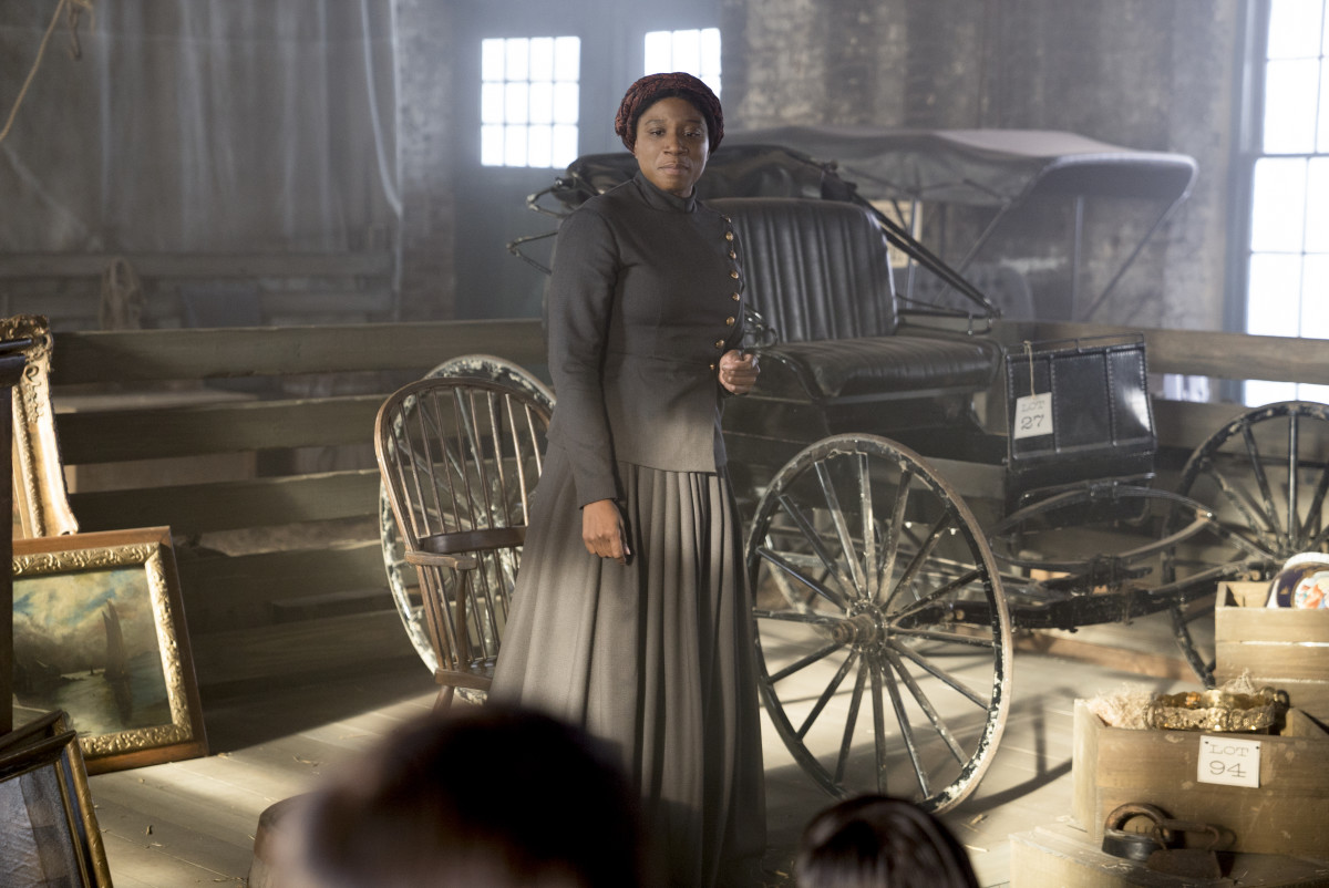 "Aisha Hinds as Harriet Tubman. Photo: ""Underground"""
