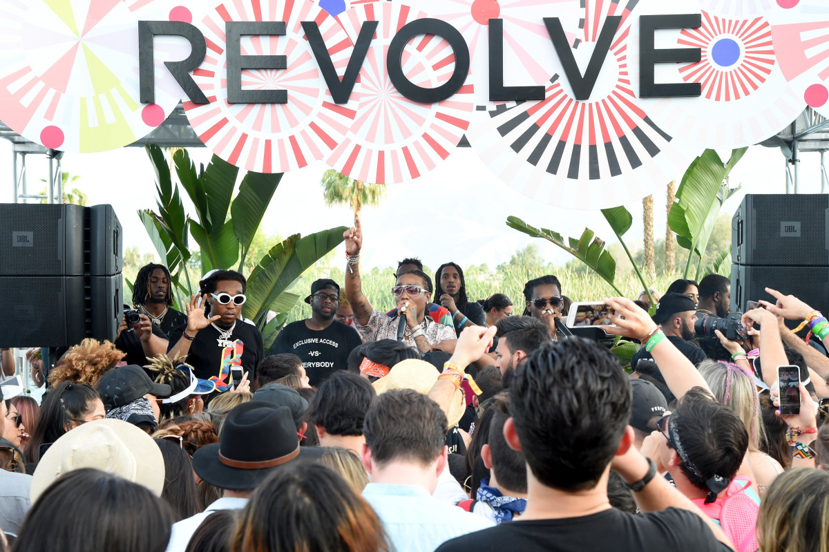 Migos performing at #Revolvefestival. Photo: BFA