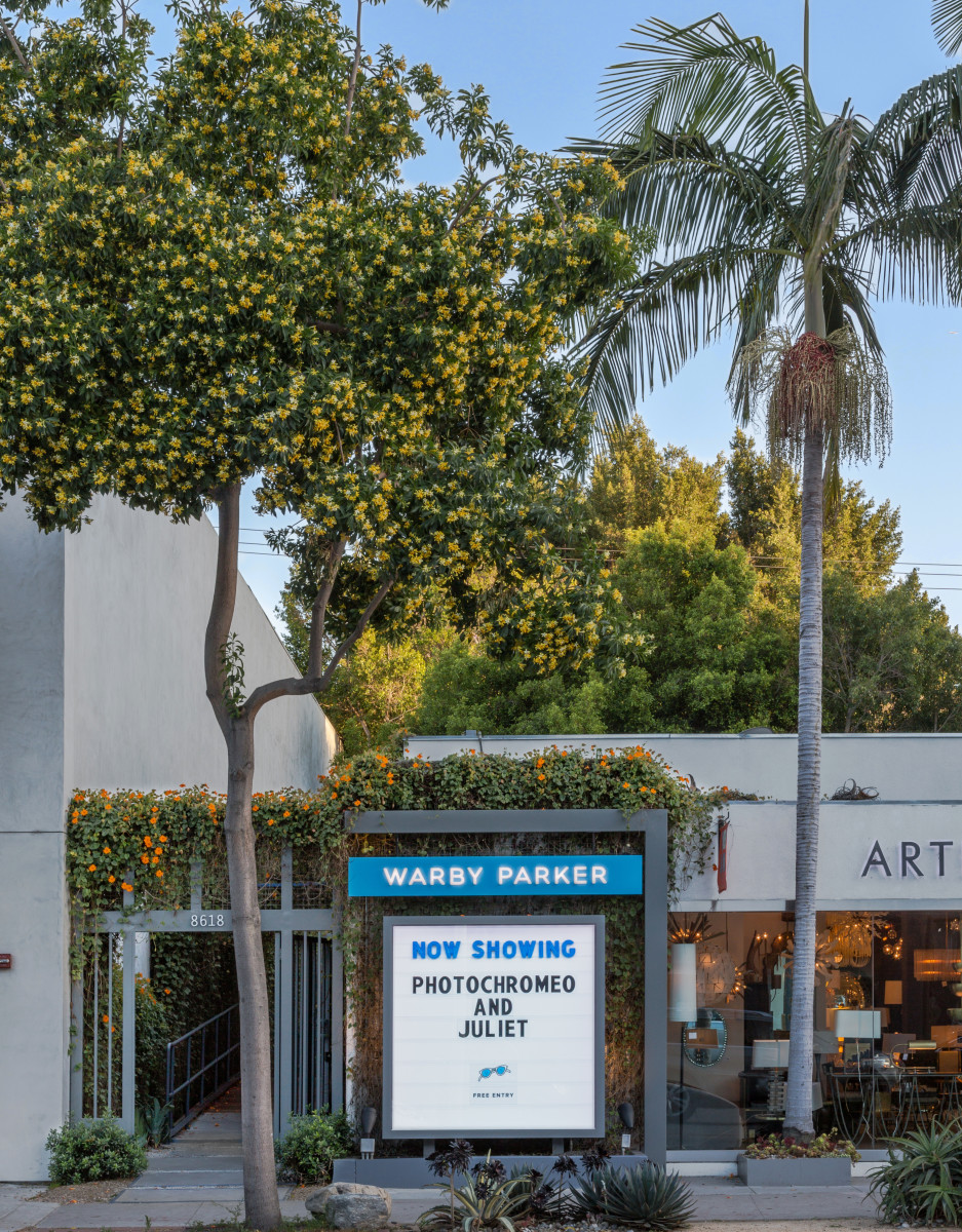 Warby Parker on Melrose Avenue in Los Angeles. Photo: Warby Parker