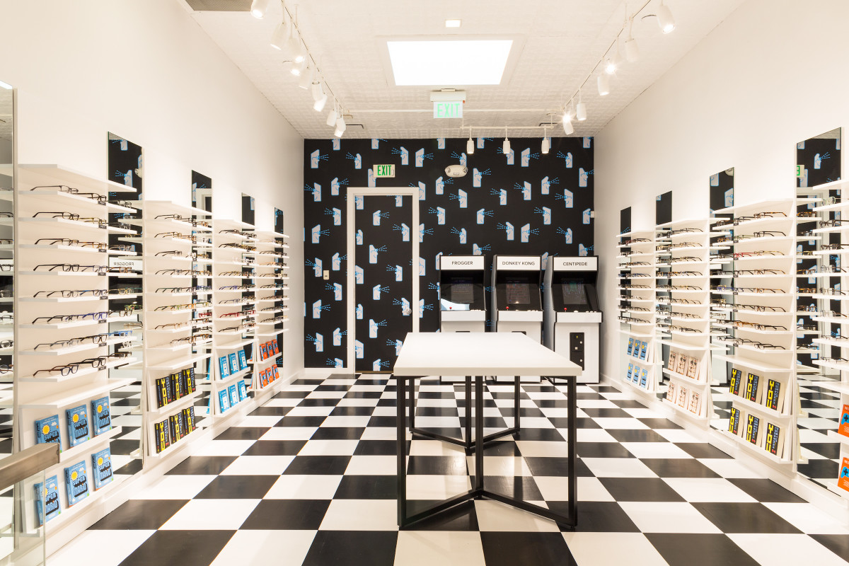 Warby Parker's arcade in Portland. Photo: Warby Parker