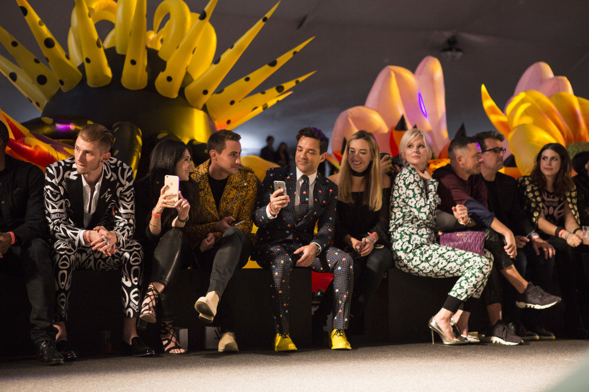 The front row at Moschino's Made LA runway show in 2016. Photo: Made LA