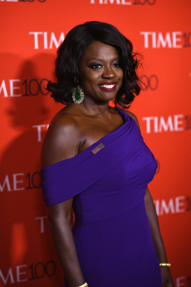 Viola Davis in Armani Privé at the 2017 'TIME' 100 Gala in New York City on Tuesday. Photo: Dimitrios Kambouris/Getty Images