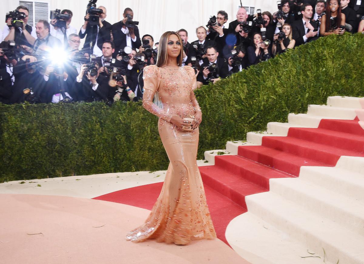 Beyoncé at the 2016 Met Gala. Photo: Stephen Lovekin/Shutterstock