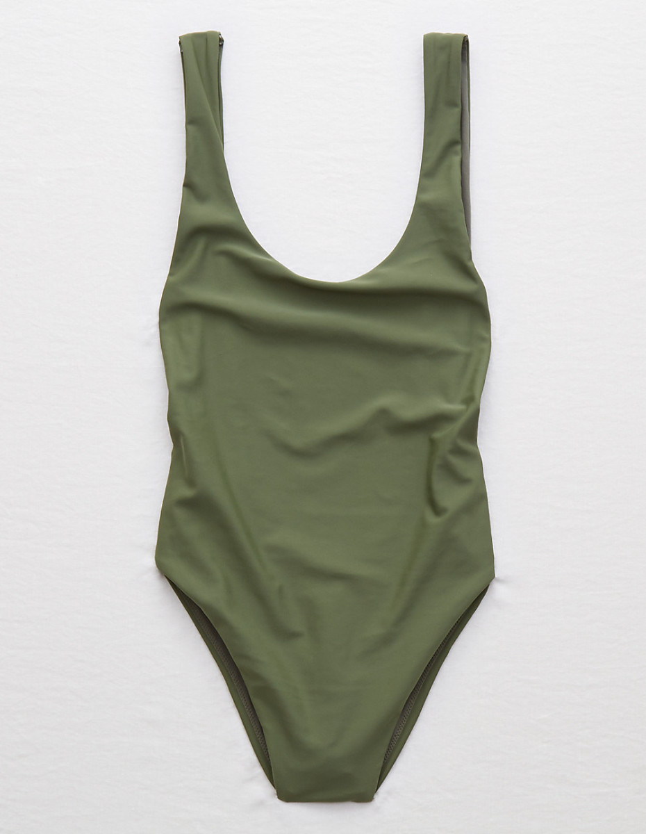 Aerie super scoop one piece swimsuit, $44.95, available at American Eagle