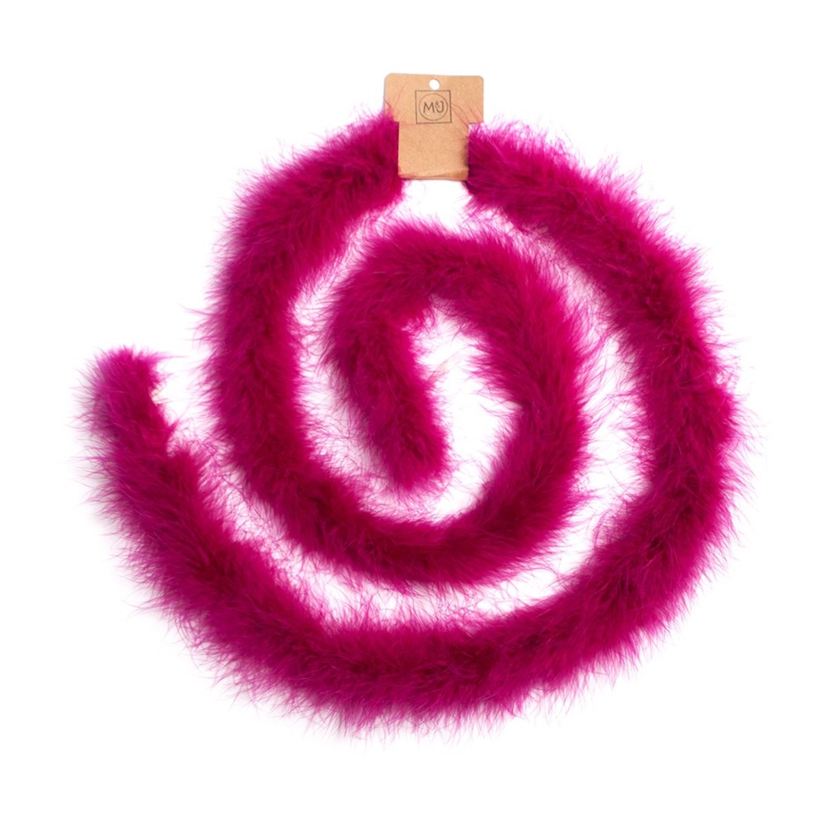 Maribou feather boa, $13.98, available at M&J Trimmings