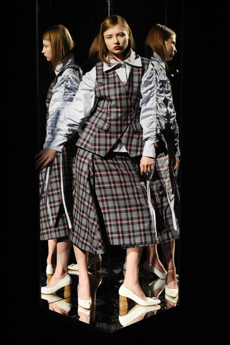 A look from Woolmark Prize nominee Claudia Li's presentation in February. Photo: Albert Urso/Getty Images