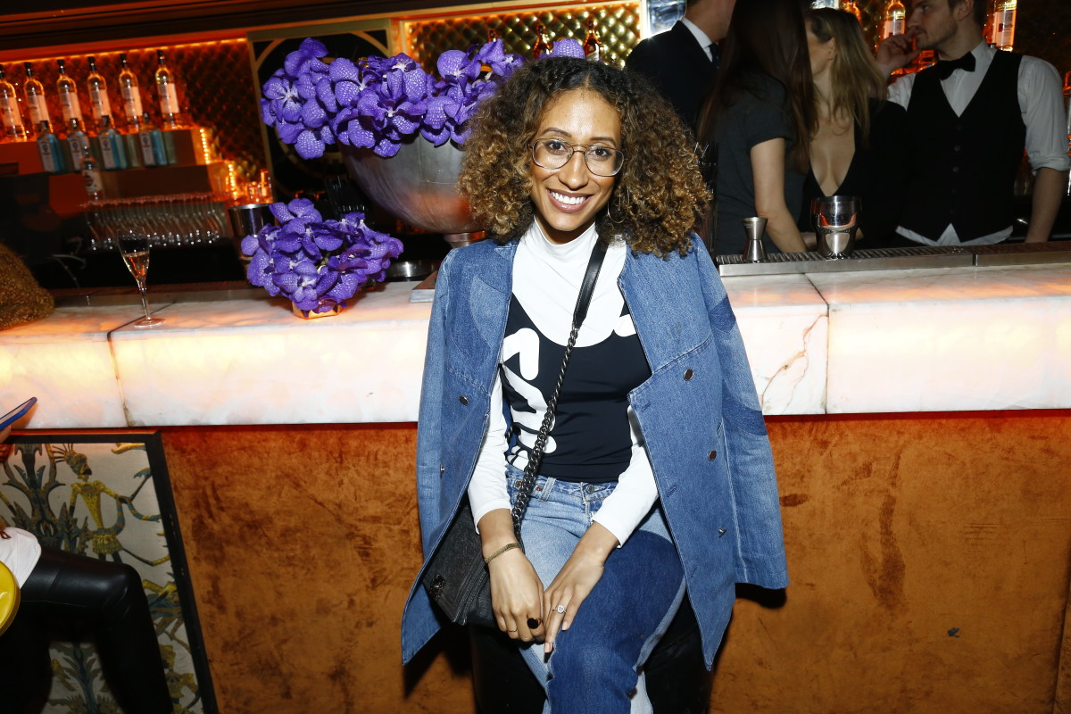 Elaine Welteroth at the Chrome Hearts X Bella Hadid collaboration launch on March 5, 2017 in Paris. Photo: Julien M. Hekimian/Getty Images for Chrome Hearts