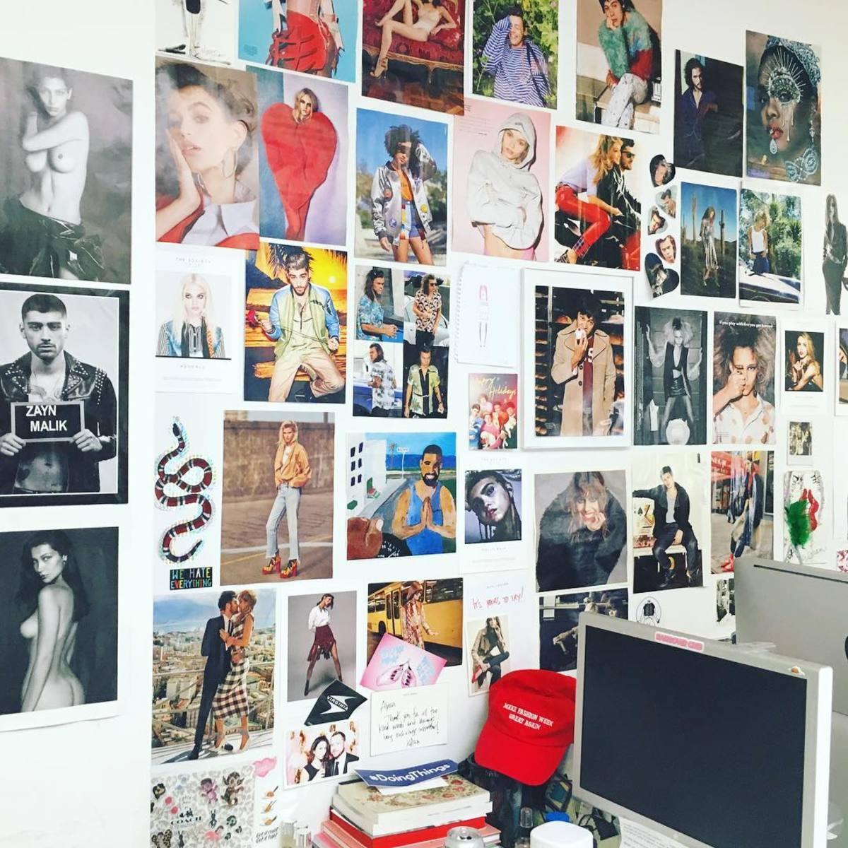 A peek inside the Fashionista office.