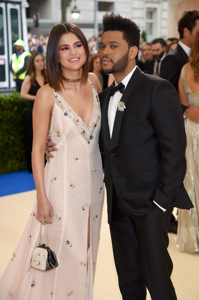 Selena Gomez and The Weeknd at the 2017 Met Gala. Photo: Dimitrios Kambouris/Getty Images