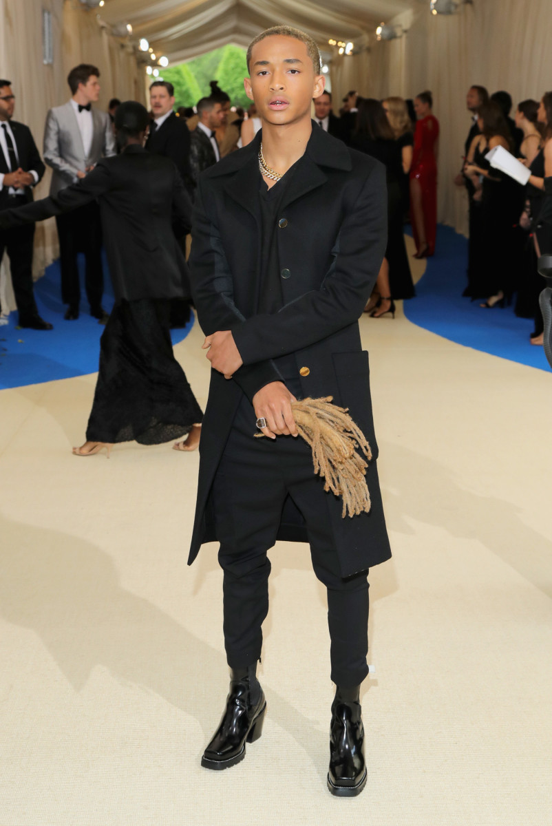 Jaden Smith and what used to be Jaden Smith's hair at the 2017 Met Gala. Photo: Neilson Barnard/Getty Images