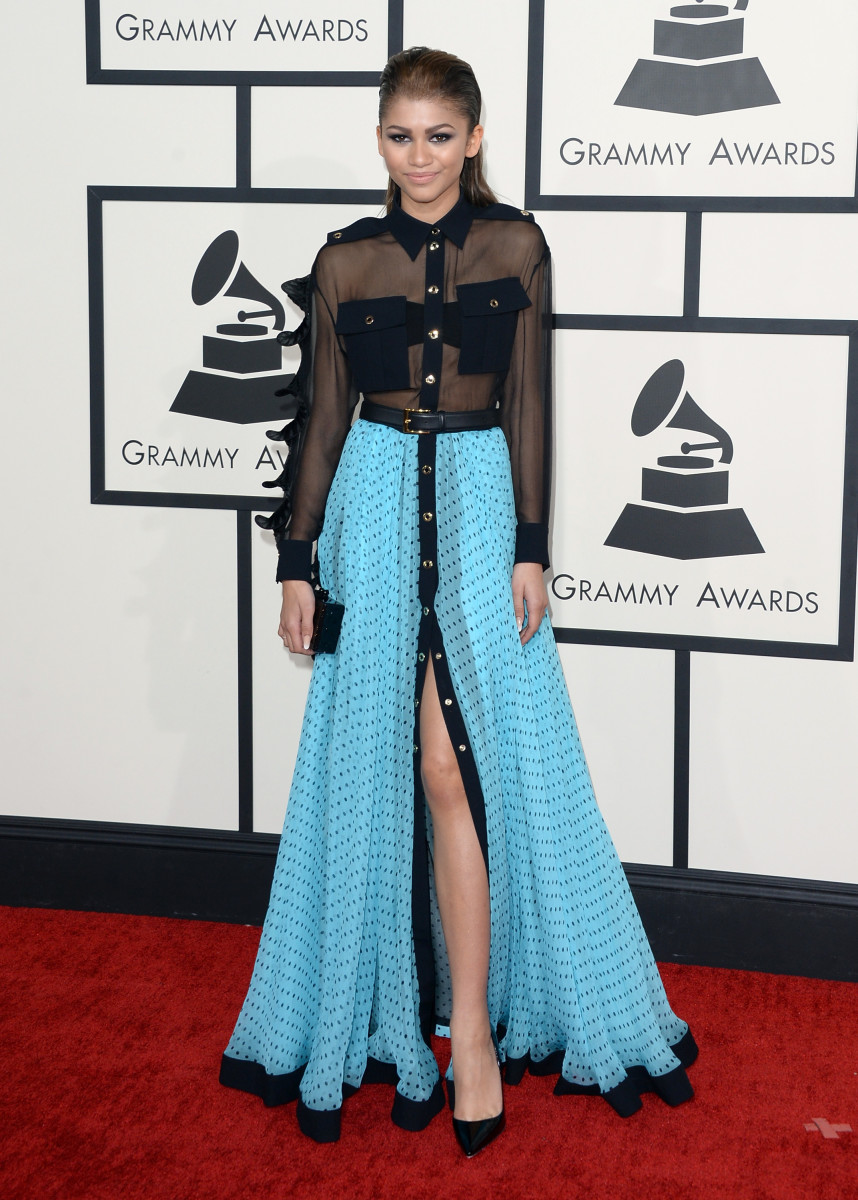 Zendaya in Ungaro at the 2014 Grammy Awards. Photo: Jason Merritt/Getty Images