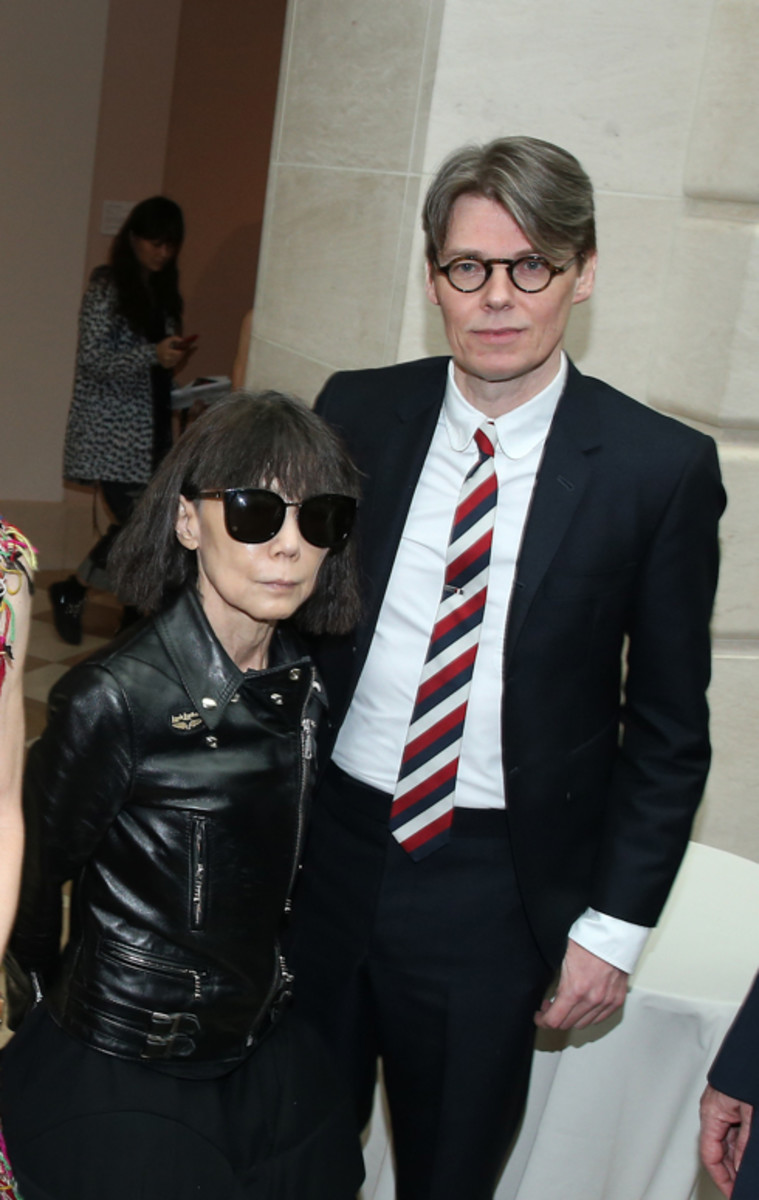 Rei Kawakubo and Andrew Bolton. Photo: Jemal Countess/Getty Images