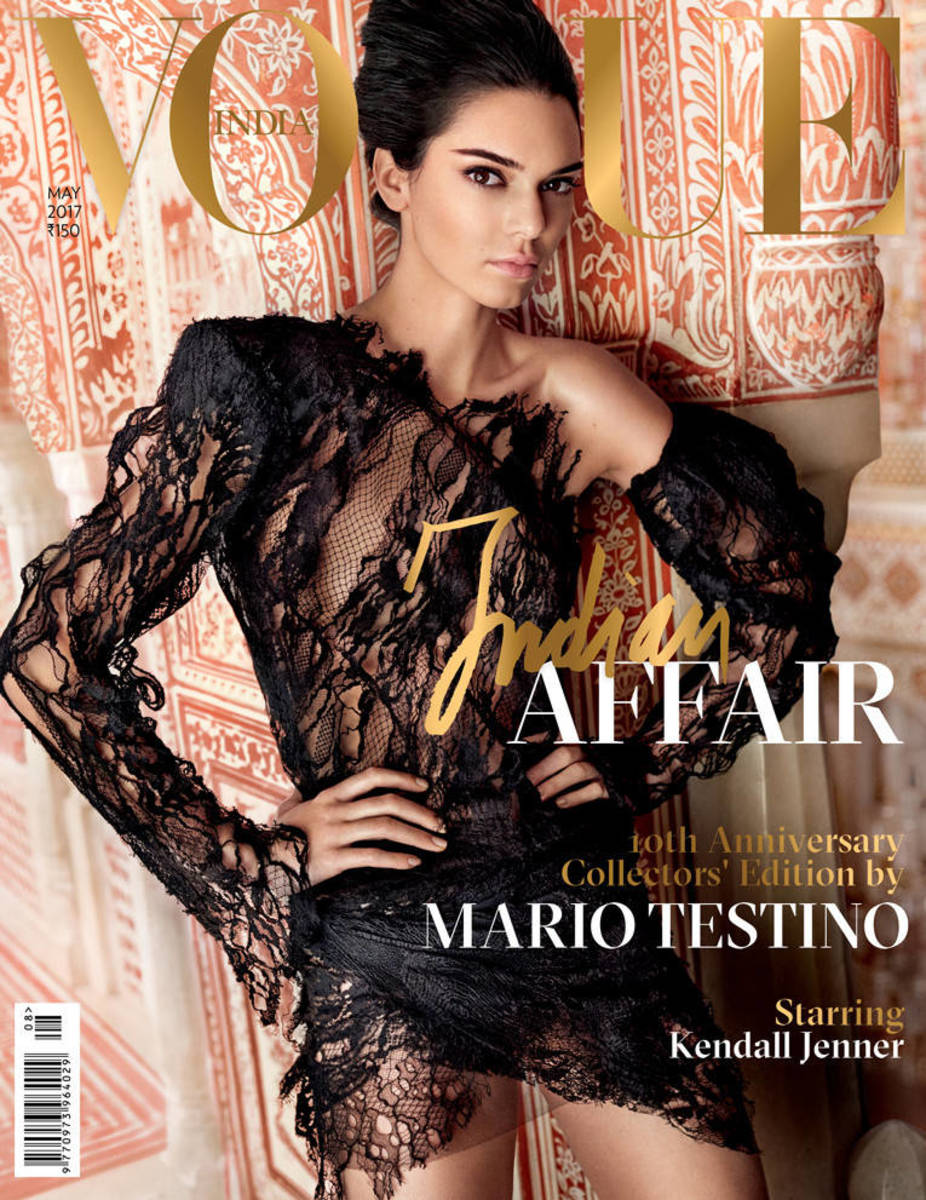 Kendall Jenner on the cover of 'Vogue India.' Photo: Mario Testino/Vogue India